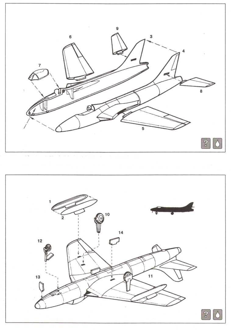 Инструкция по сборке Eastern Express 72272 Hawker Hunter F.Mk.1