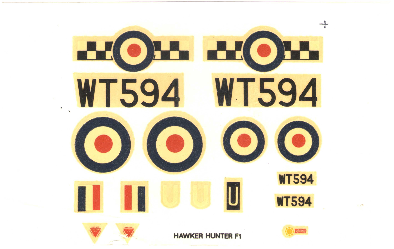 декаль NOVO Toys Ltd F320 Hawker Hunter