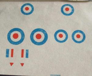 Бумажная аппликация из инструкции Донецкой фабрики игрушек 90-х Хаукер Хантер Ф-Мк-I
