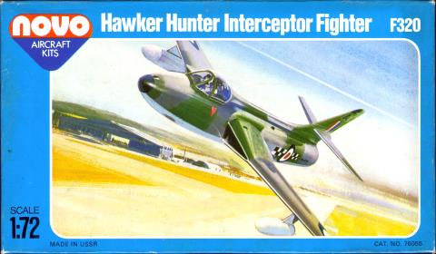 Верх коробки NOVO Toys Ltd F320 Hawker Hunter