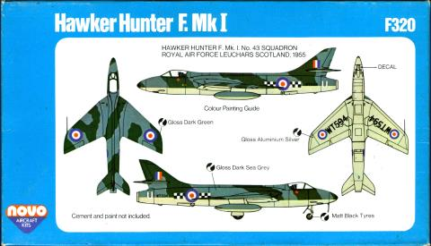 Гид по окраске NOVO Toys Ltd F320 Hawker Hunter