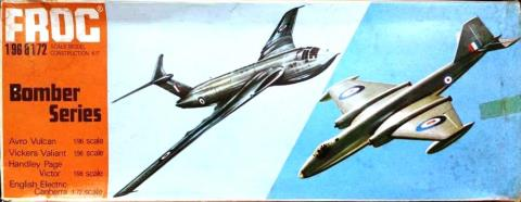 Коробка FROG 323P English Electric Canberra PR.7, Rovex, 1956