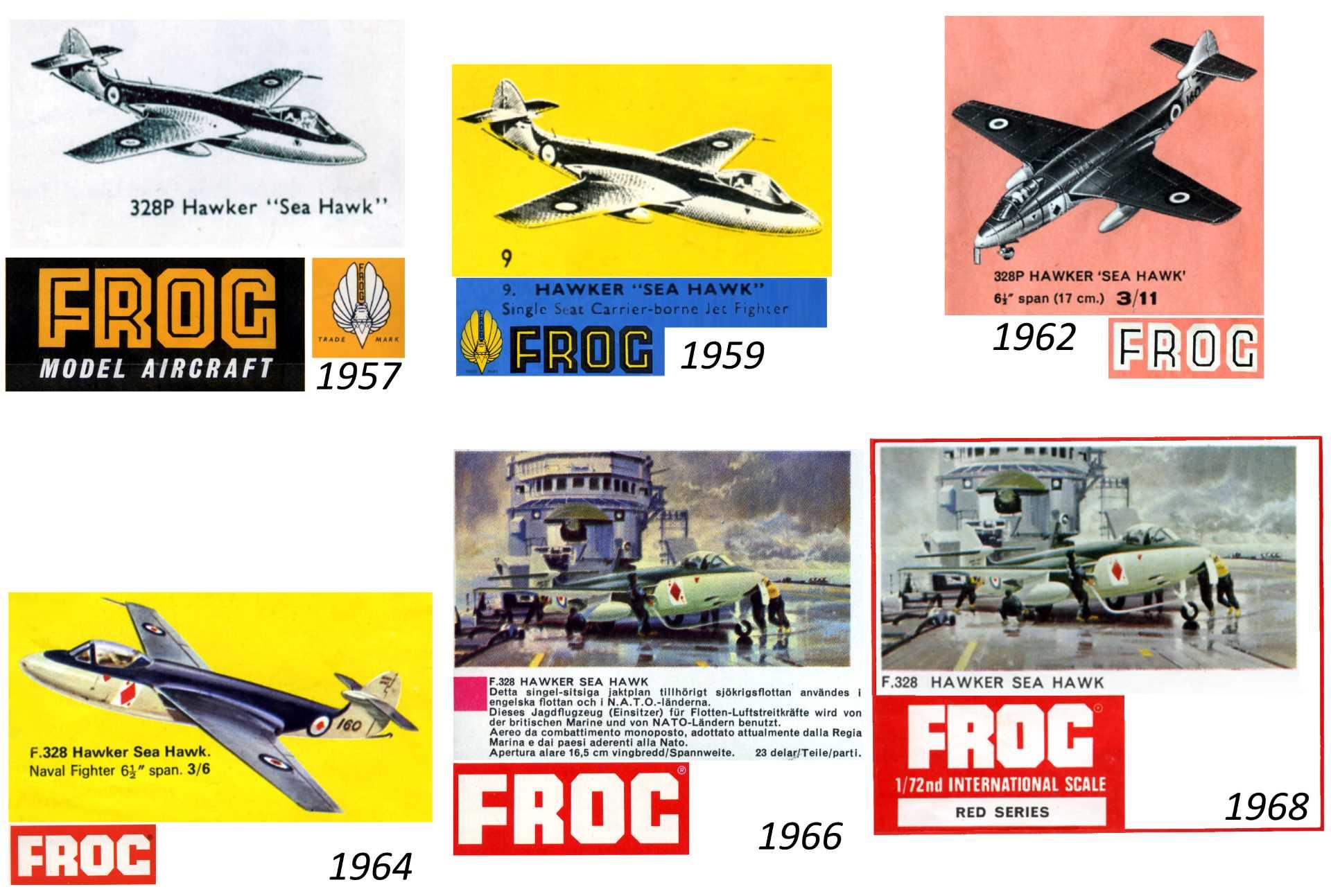 328P Hawker Sea Hawk в каталогах FROG 1957-1969