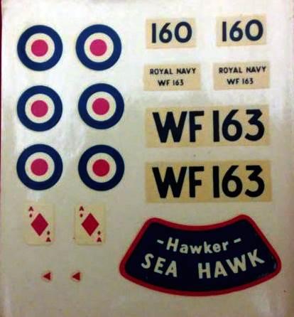 FROG 328.P Hawker Sea Hawk jet fighter 1957 декаль
