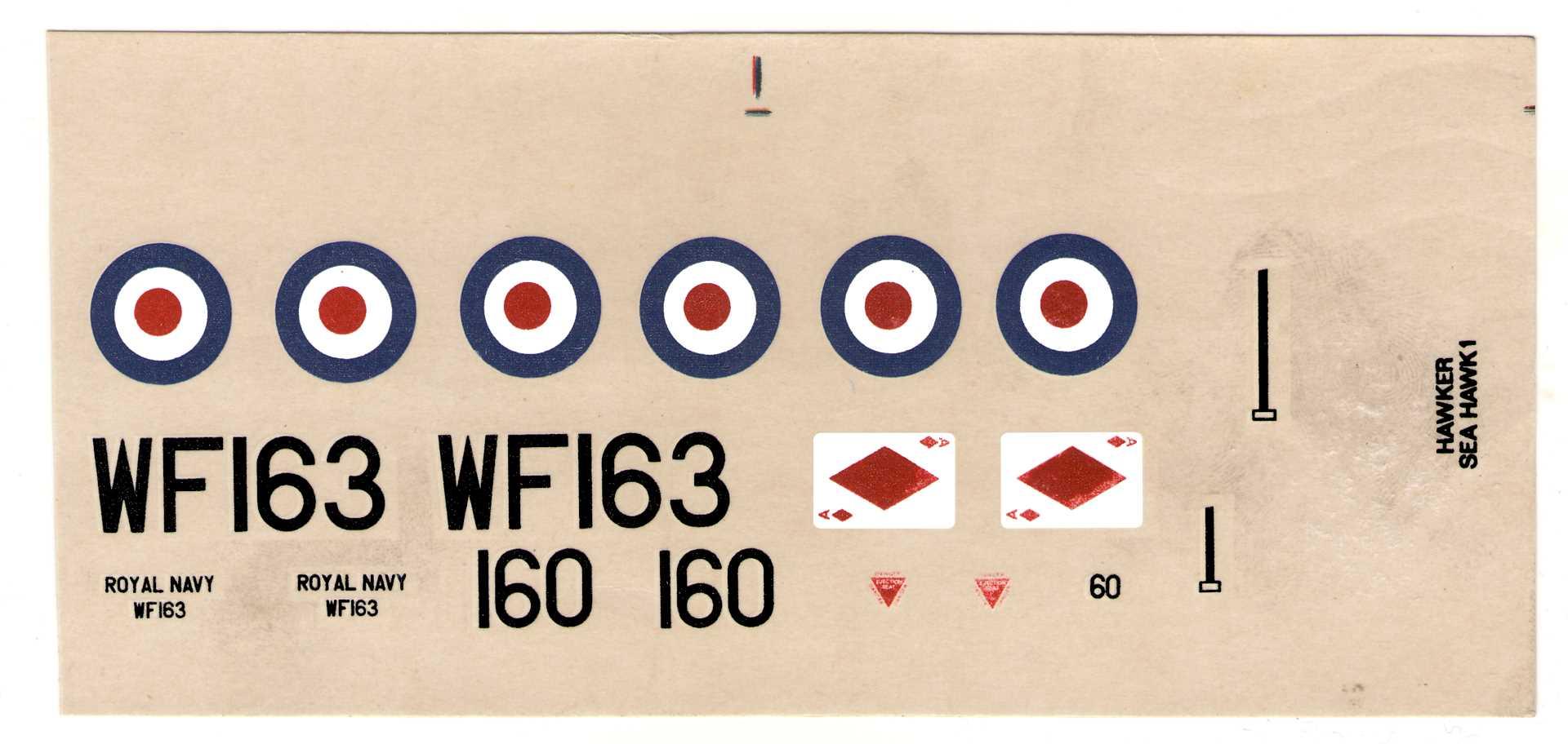 декаль NOVO Toys Ltd F328 Hawker Sea Hawk