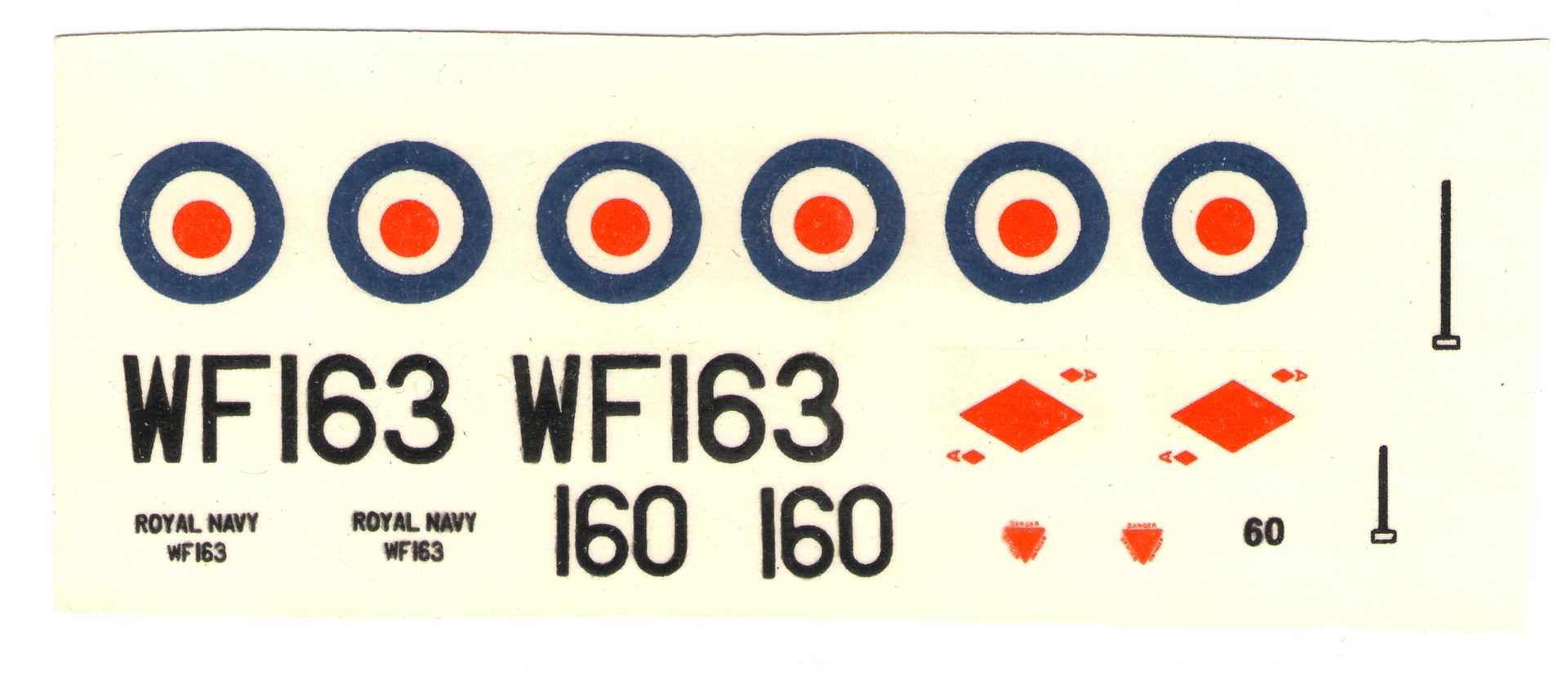 Донецкая копия нововской декали NOVO Toys Ltd F328 Hawker Sea Hawk