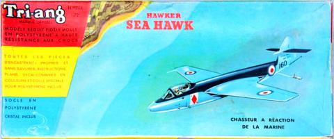 Tri-ang 328P Hawker Sea Hawk jet fighter 1957 коробка