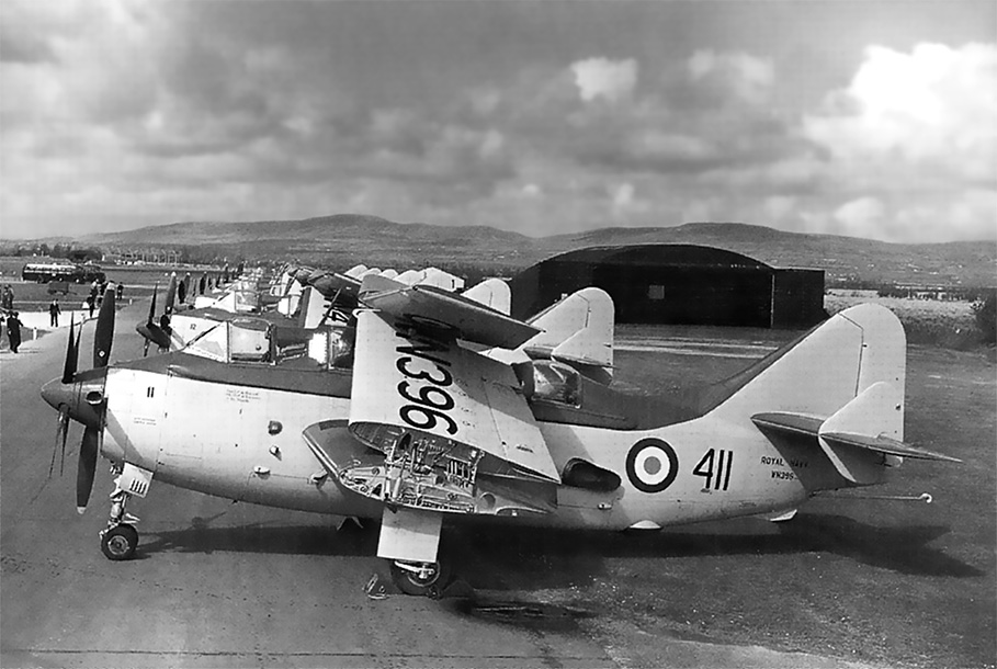 Fairey Gannet AS.1 WN396 411, 824Sqn, RNAS Eglinton, Ireland, 1955