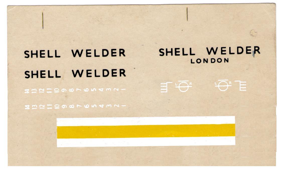 Декаль NOVO F137 Shell Welder - coastal tanker