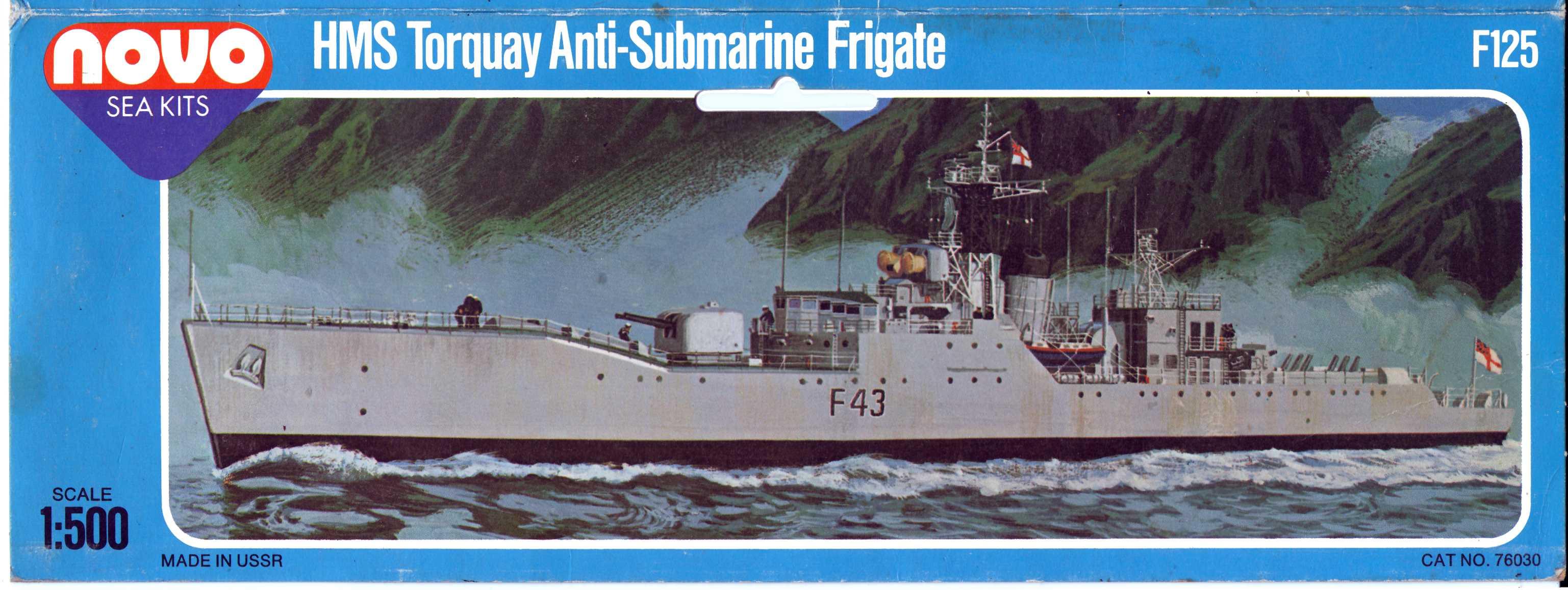 Лепесток NOVO Toys Ltd F125 Cat.No.76030 HMS Torquay Anti-Submarine Frigate