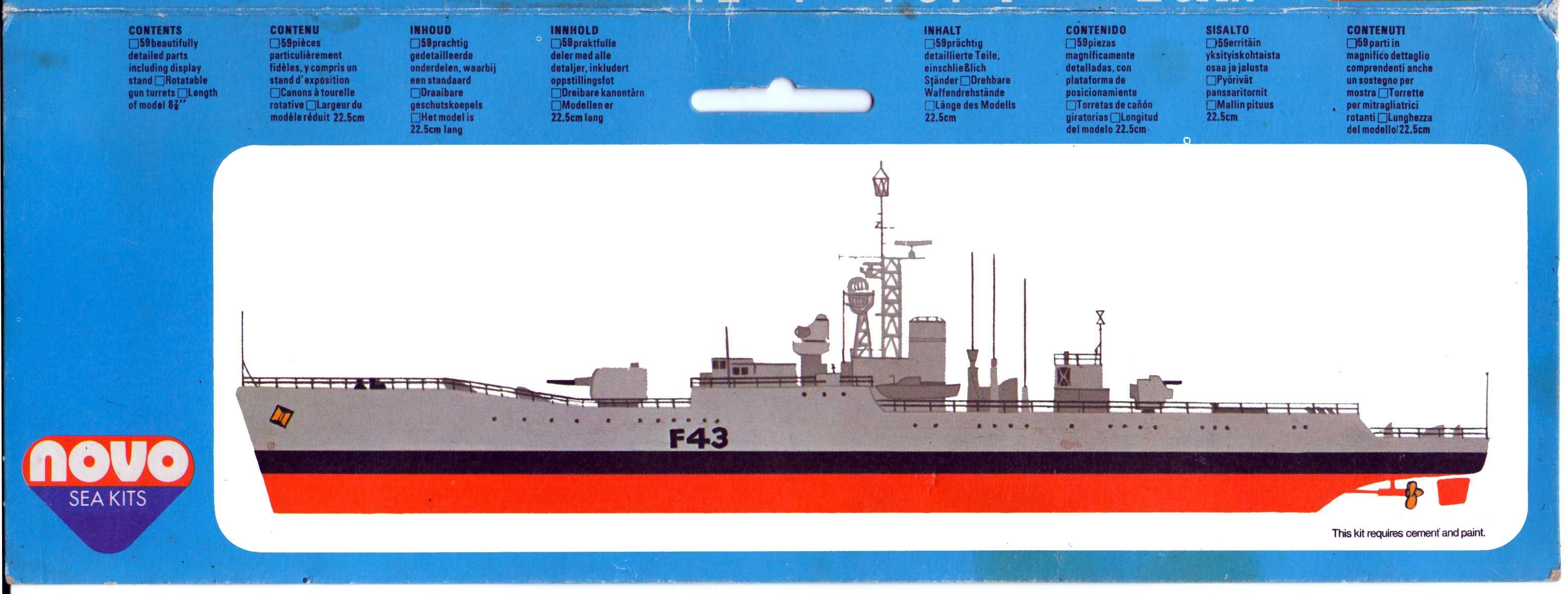 Гид по окраске и нанесению маркировки NOVO Toys Ltd F125 Cat.No.76030 HMS Torquay Anti-Submarine Frigate