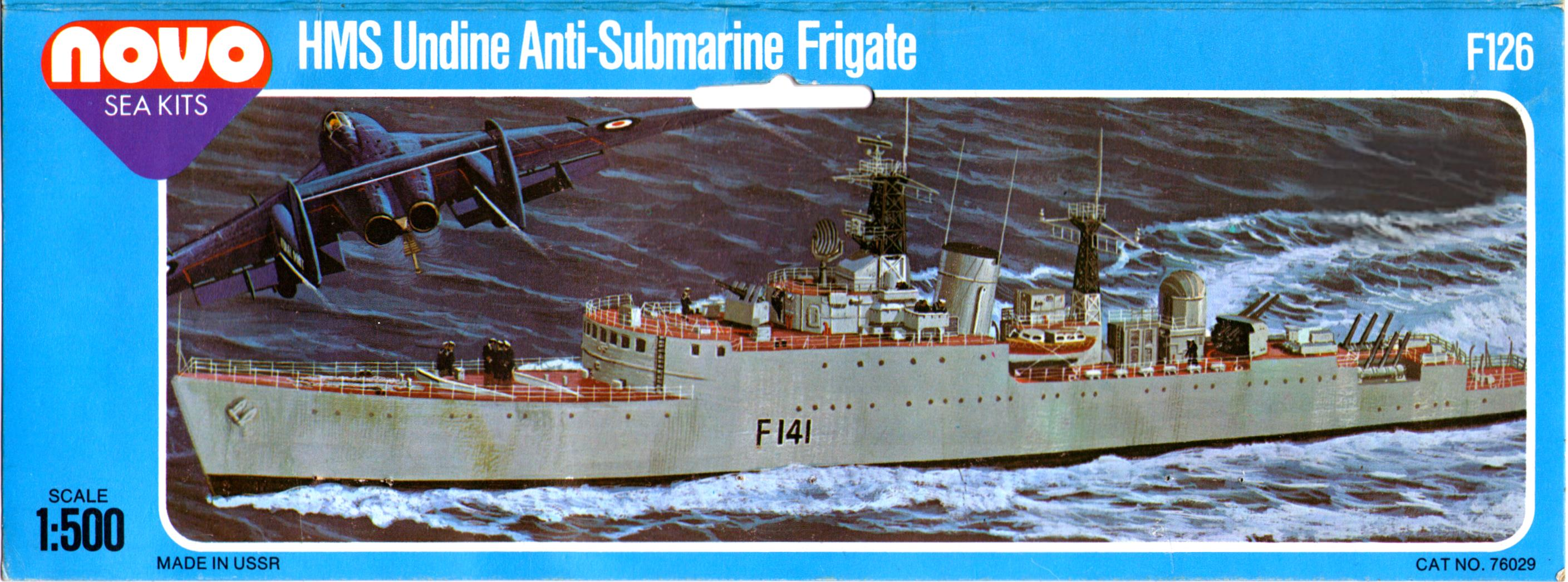 Лепесток NOVO Toys Ltd F126 Cat.No.76029 HMS Undine Anti-Submarine Frigate