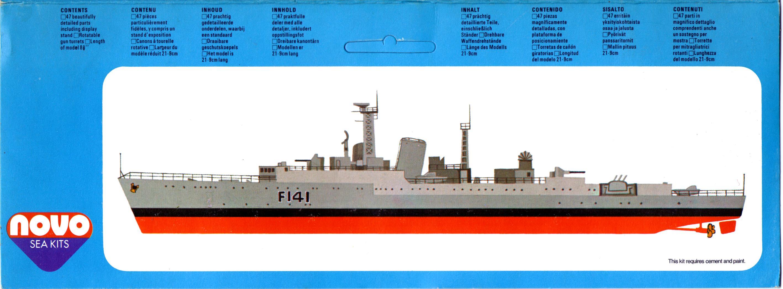 Гид по окраске и нанесению маркировки NOVO Toys Ltd F126 Cat.No.76029 HMS Undine Anti-Submarine Frigate