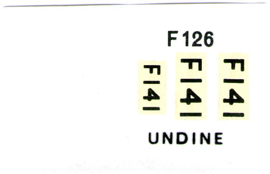 Декали NOVO Toys Ltd F126 Cat.No.76029 HMS Undine Anti-Submarine Frigate