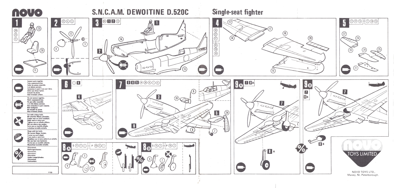 Инструкция по сборке NOVO F155 Dewoitine D520