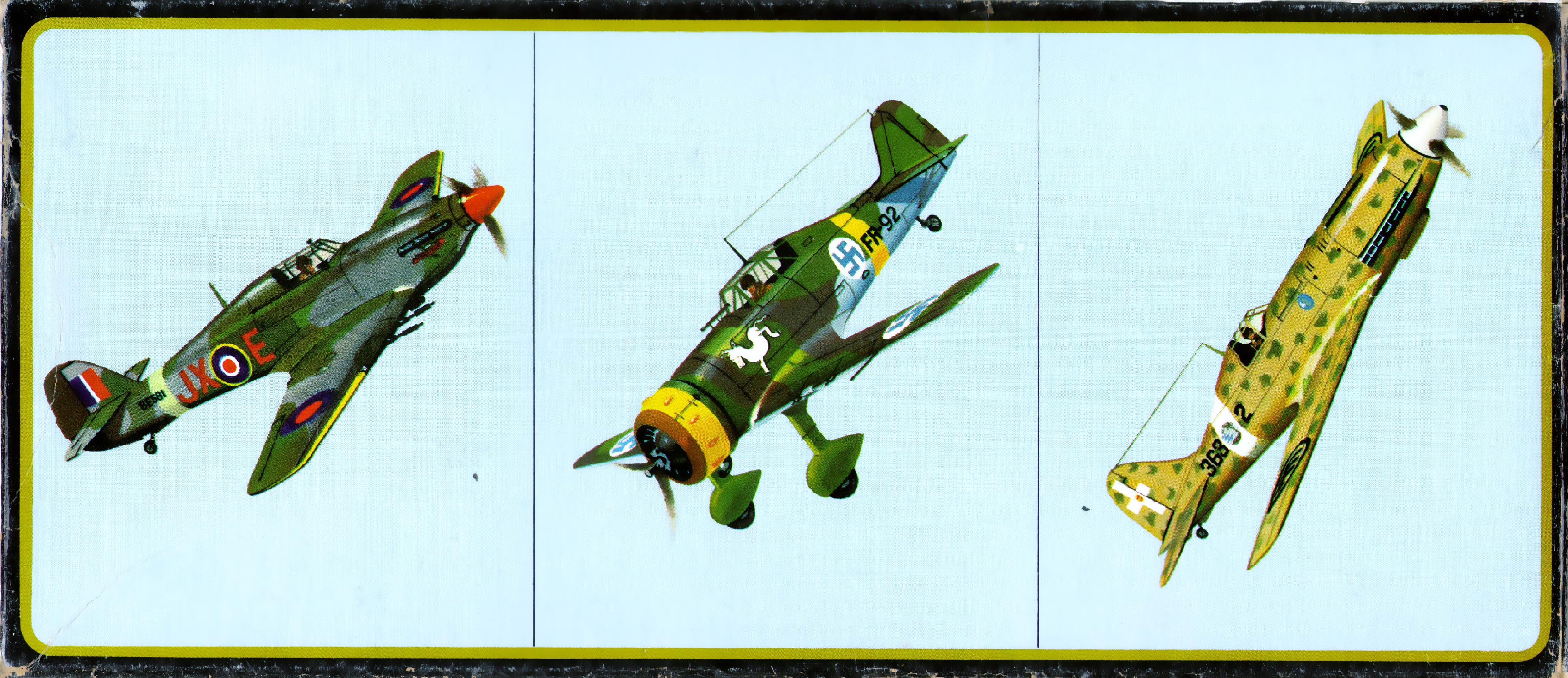 Верх коробки amt 3955-130 Fokker D21, Famous Fighters Series I, American Metal Toys, 1969,