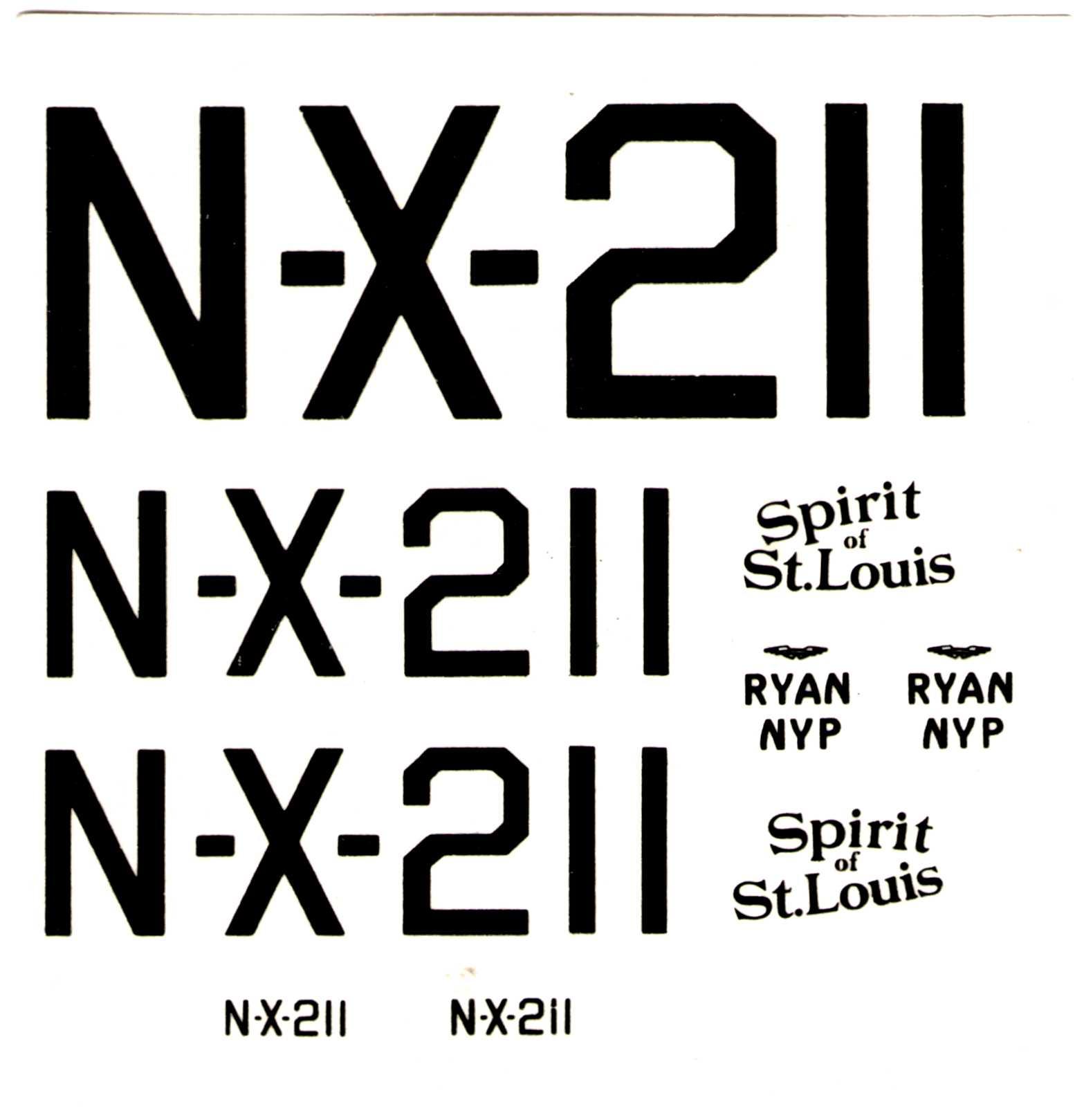 Декаль NOVO Toys Ltd F166 Ryan - Spirit of St. Louis 1/72