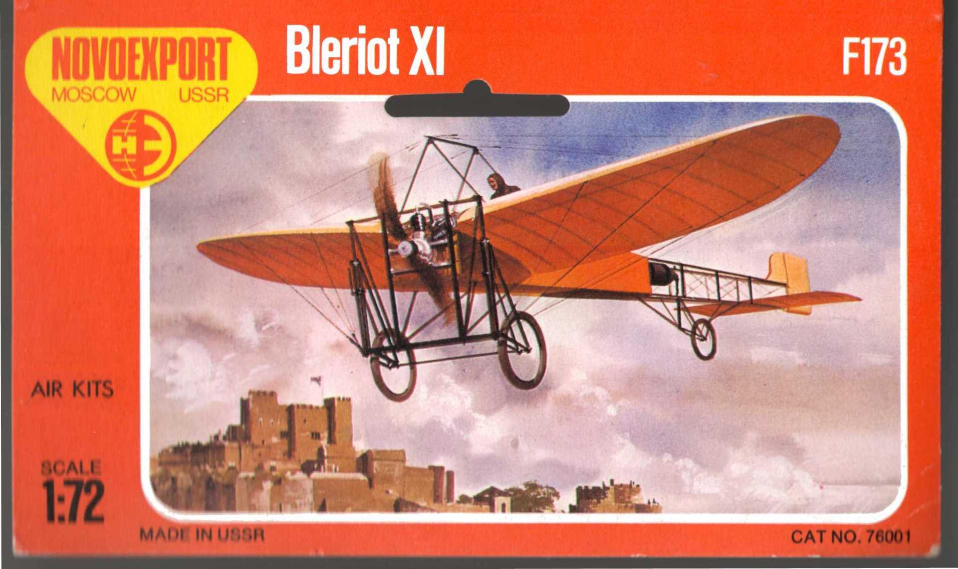 Лицевая сторона лепестка Novoexport F173 Bleriot XI