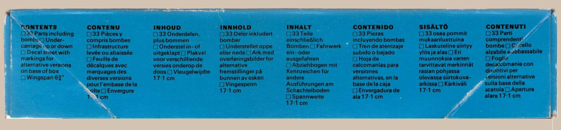 Содержимое коробки NOVO F183 Thunderbolt - Fighter Bomber