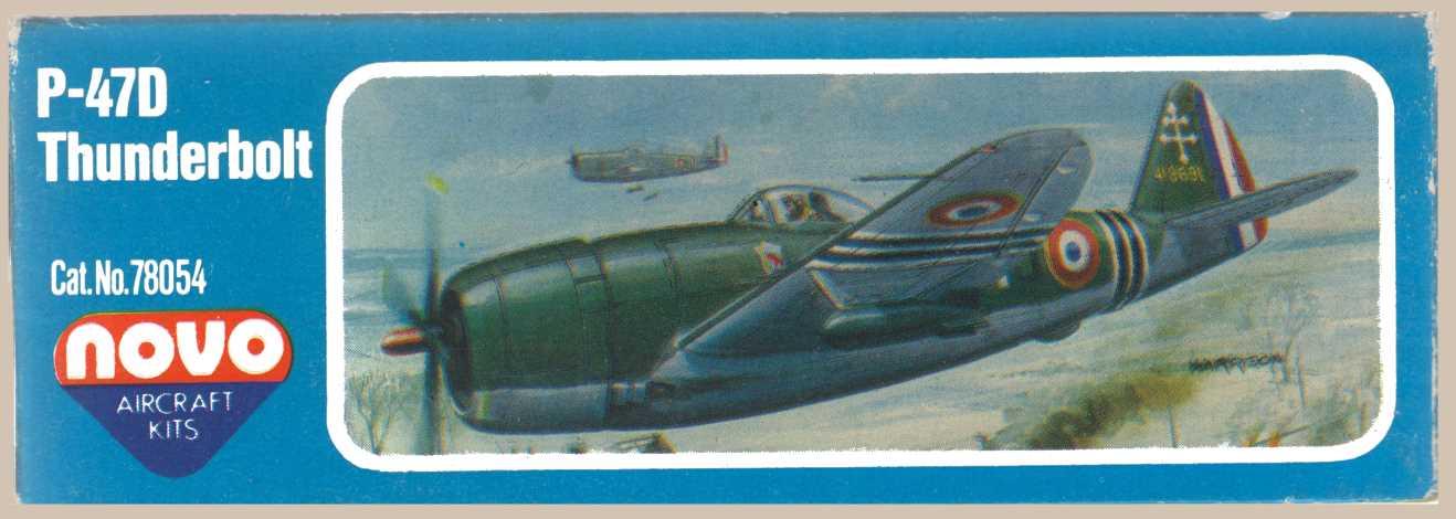 Сторона коробки NOVO F183 Thunderbolt - Fighter Bomber