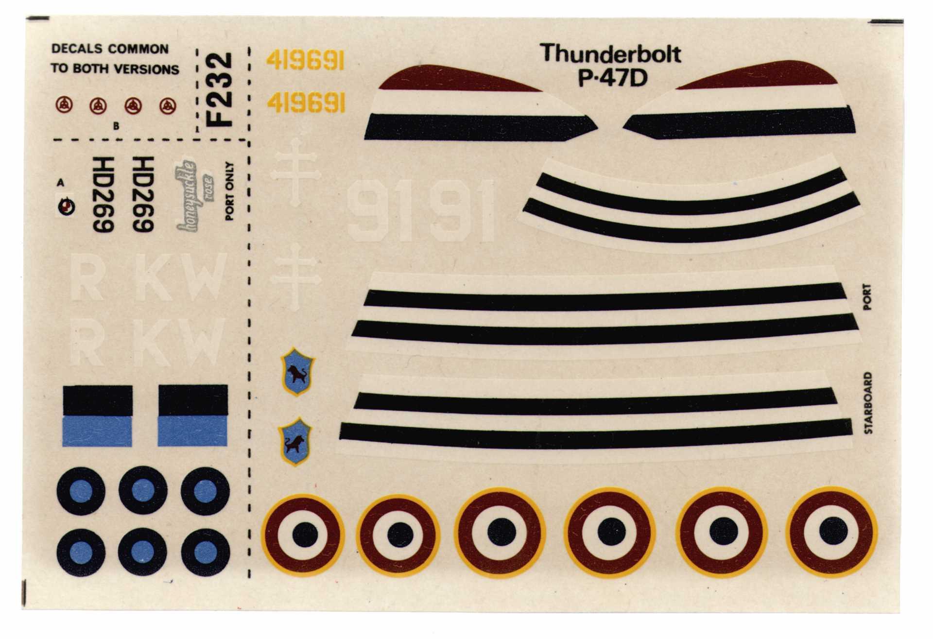 Декаль NOVO F183 Thunderbolt - Fighter Bomber