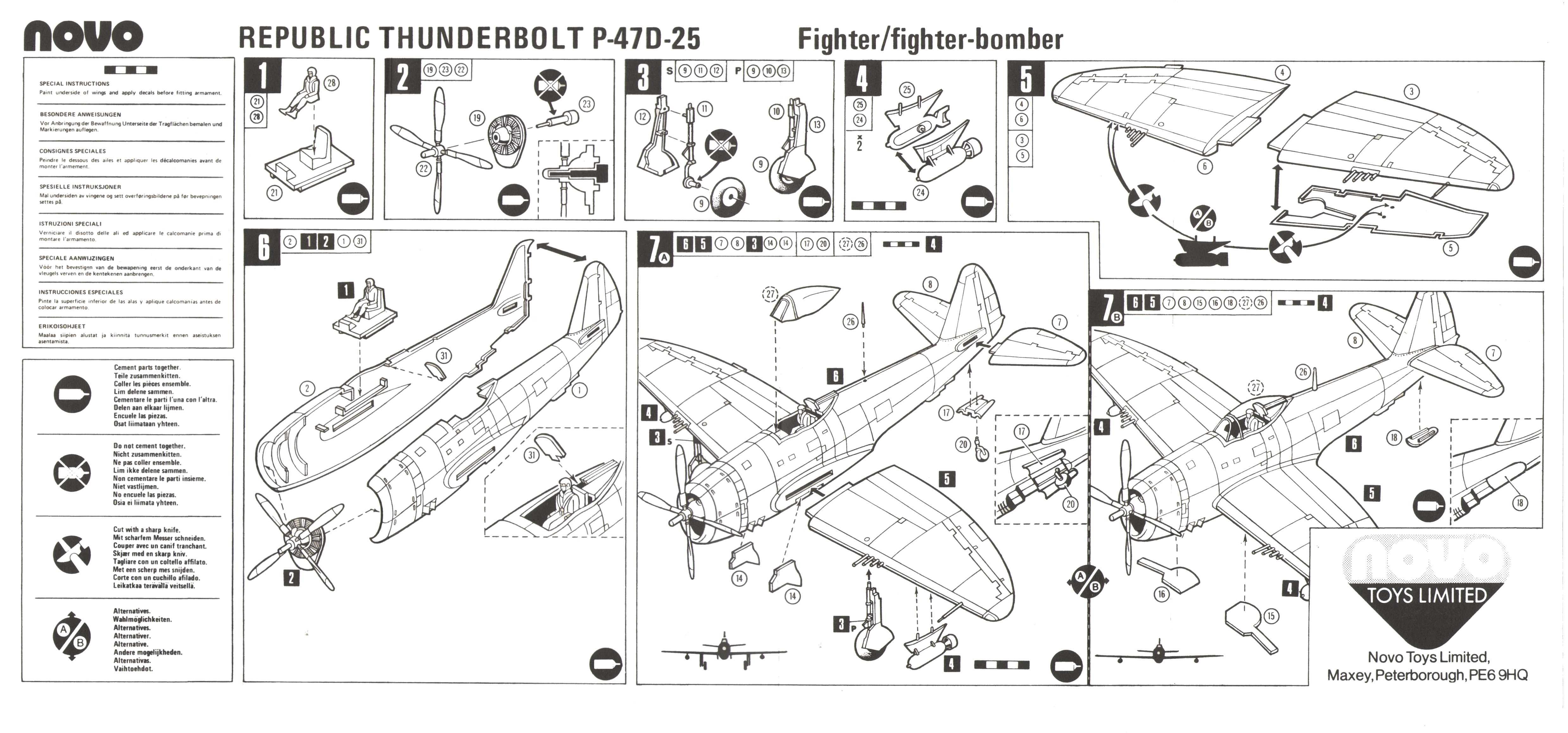 Инструкция NOVO F183 Thunderbolt - Fighter Bomber