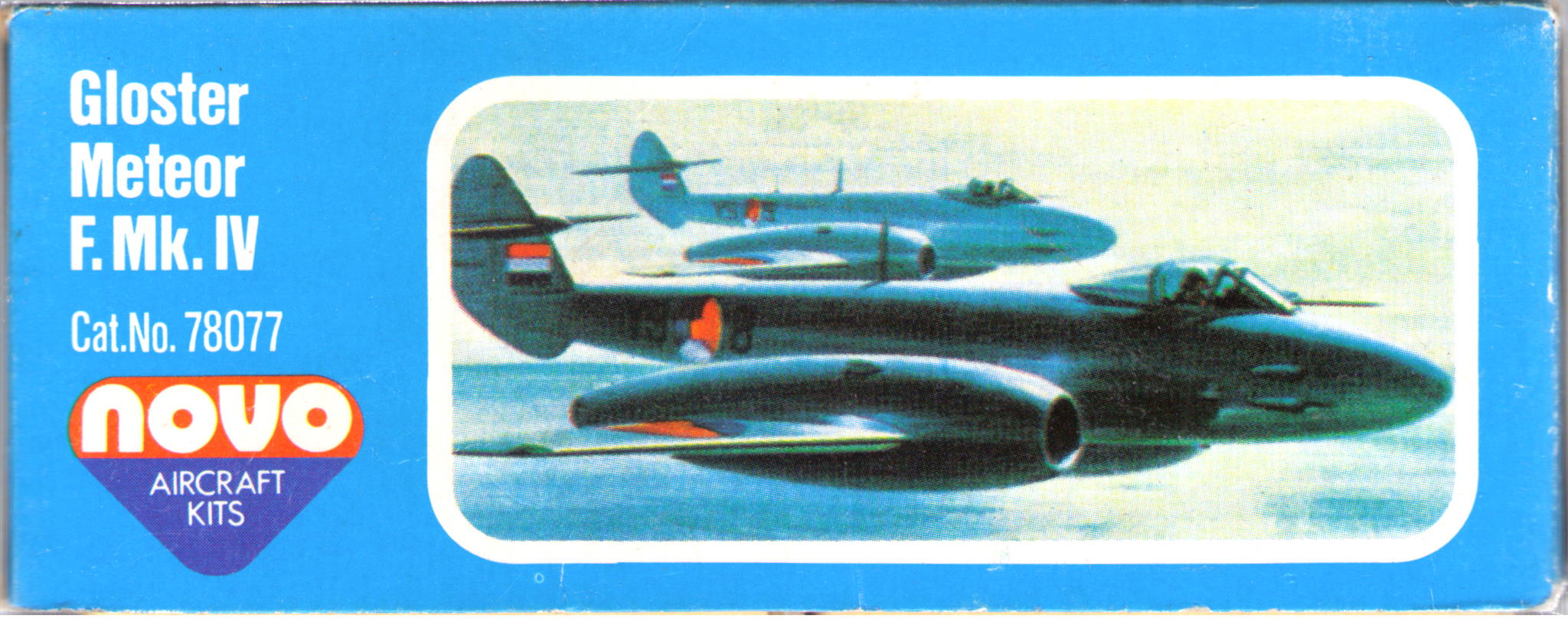 Схема окраски и маркировки F200 Gloster Meteor F.Mk.IV Interceptor fighter, NOVO Toys Ltd, 1979-1980