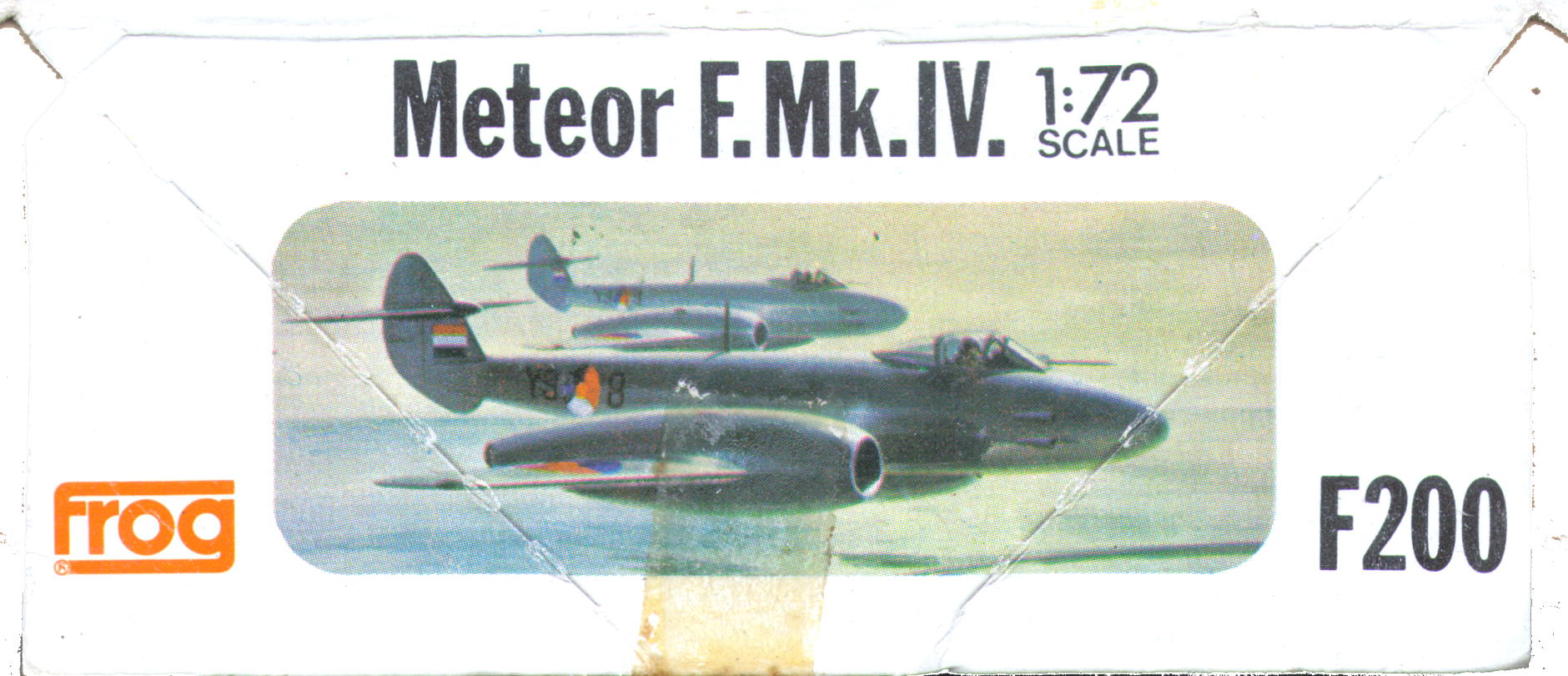 Малая сторона коробки FROG F200 Gloster Meteor F.Mk.IV Interceptor fighter,