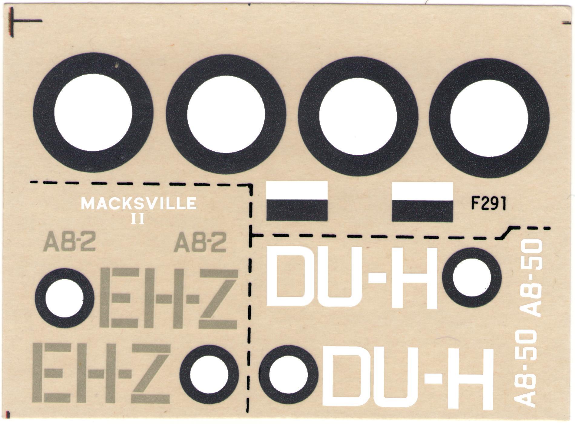 Декаль на два врианта NOVO Toys Ltd F291 Beaufighter Mk.21