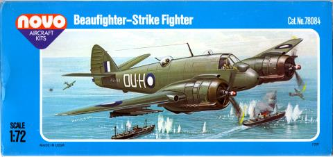 Верх коробки NOVO Toys Ltd F291 Beaufighter Mk.21