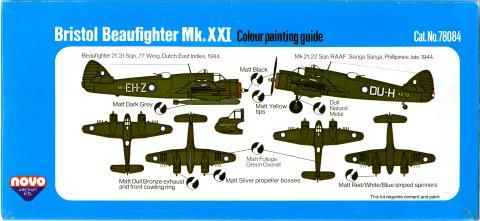 Гид по окраске и нанесению маркировки NOVO Toys Ltd F291 Beaufighter Mk.21