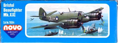 Бок коробки NOVO Toys Ltd F291 Beaufighter Mk.21