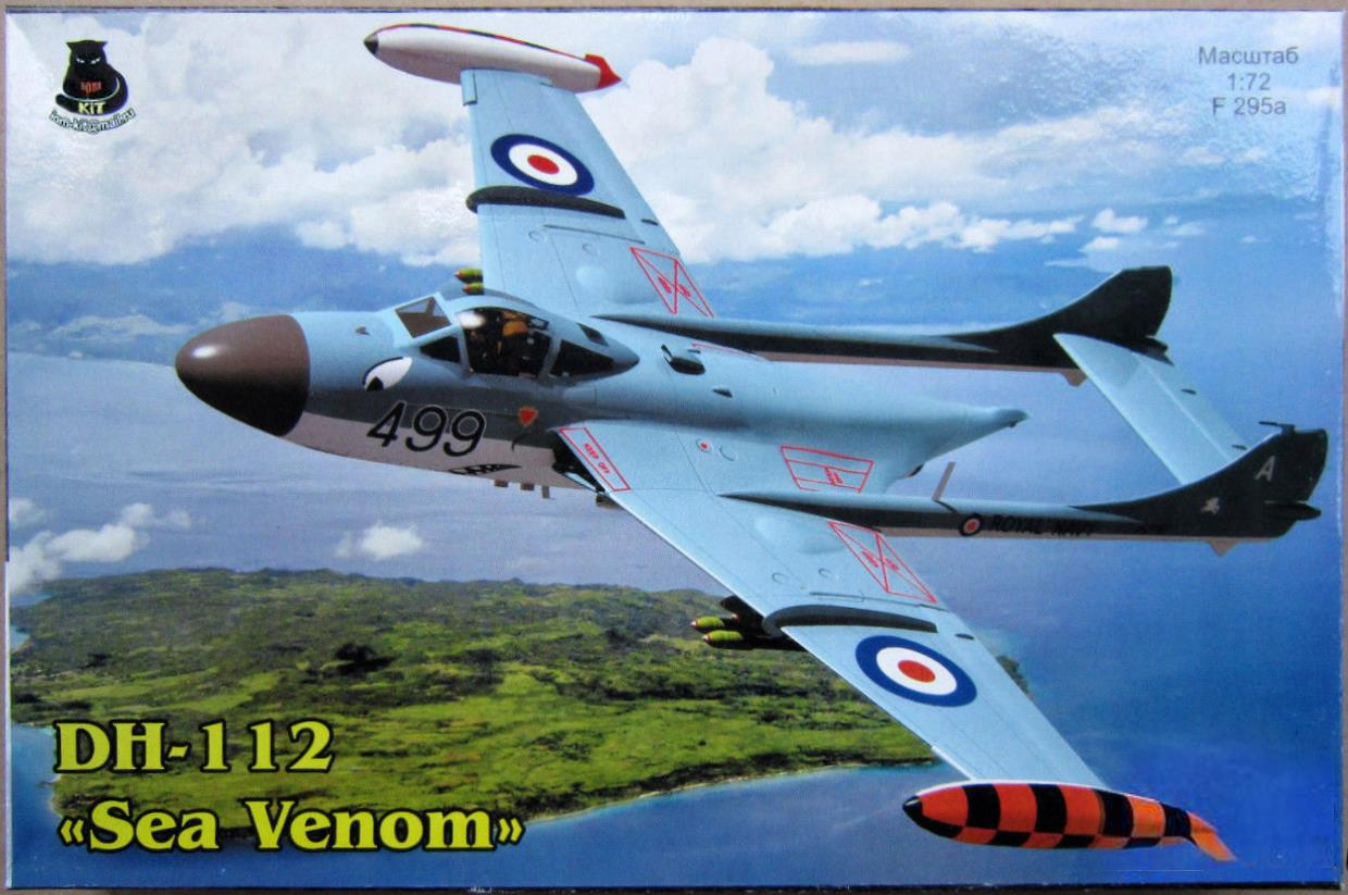 Верх коробки IOM-kit F295a DH-112 Sea Venom, IOM-kit@mail.ru, 2010-s