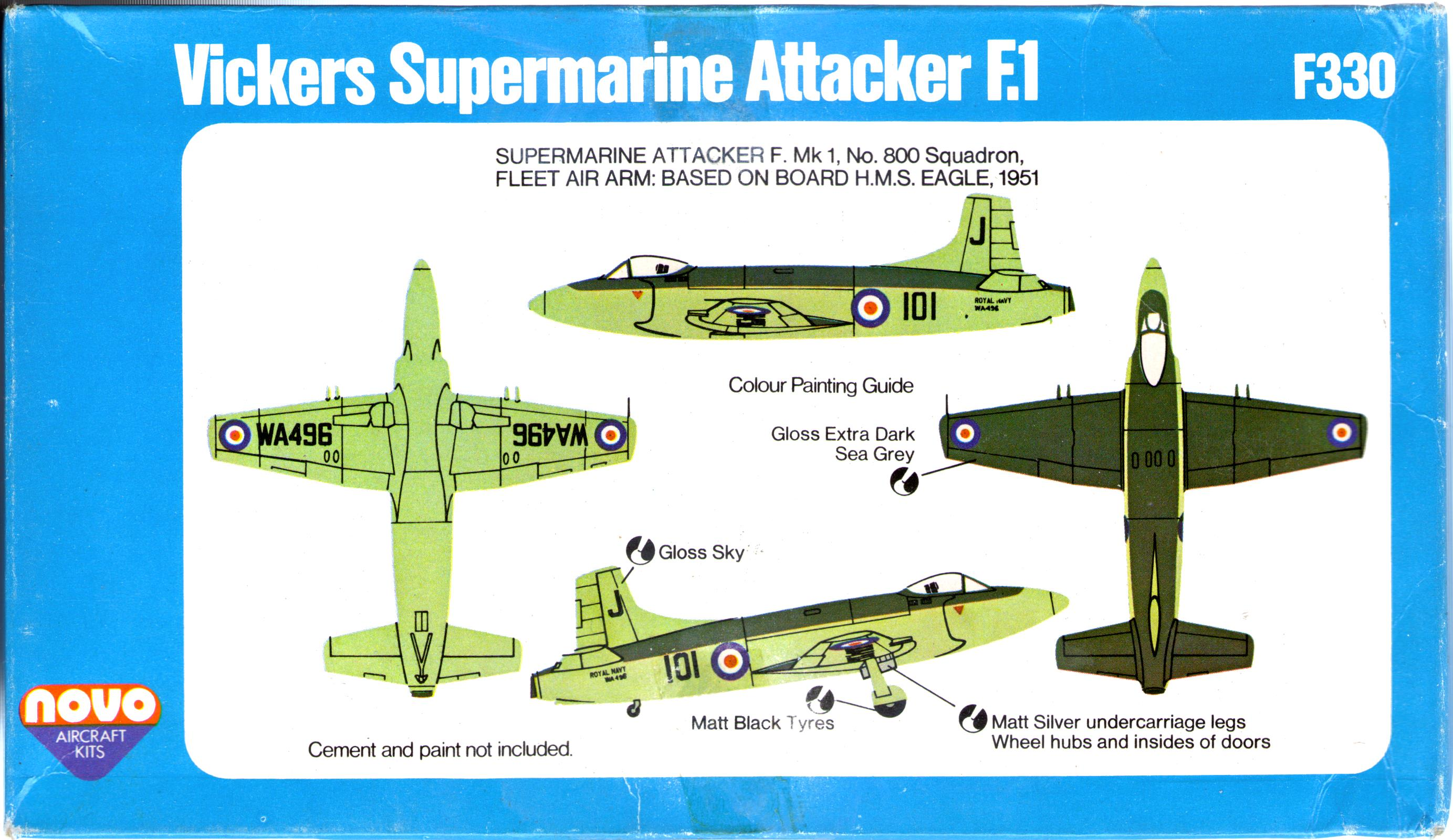 Гид по окраске NOVO Toys Ltd Supermarine Attacker F.Mk.1