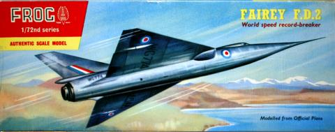 Коробка FROG 333P Fairey Delta 2, IMA Ltd, 1958