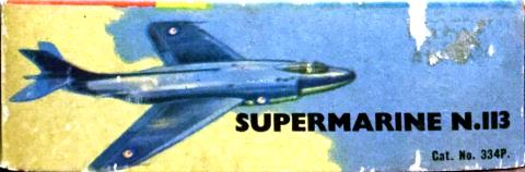Коробка FROG 334P Supermarine N.113, International Model Aircraft Limited, 1957