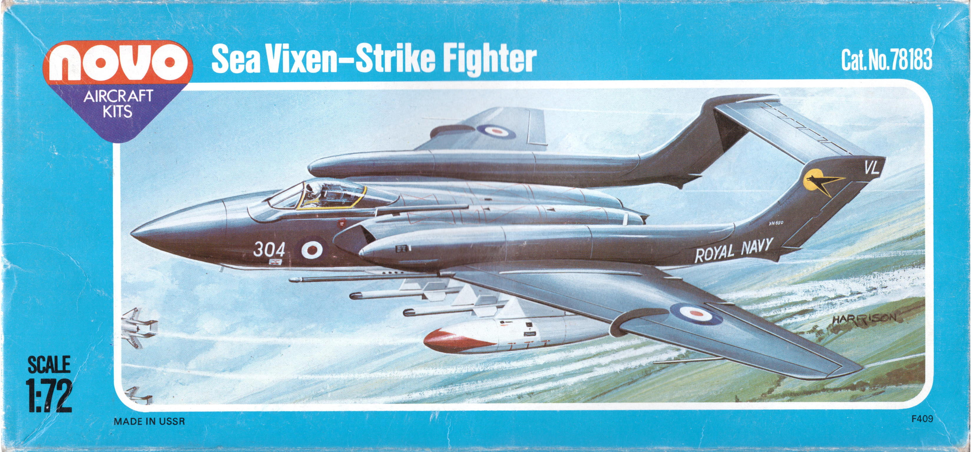 Коробка NOVO F409 Hawker Siddeley Sea Vixen FAW.Mk.2 Strike Fighter, NOVO Toys Ltd Cat.No.78054